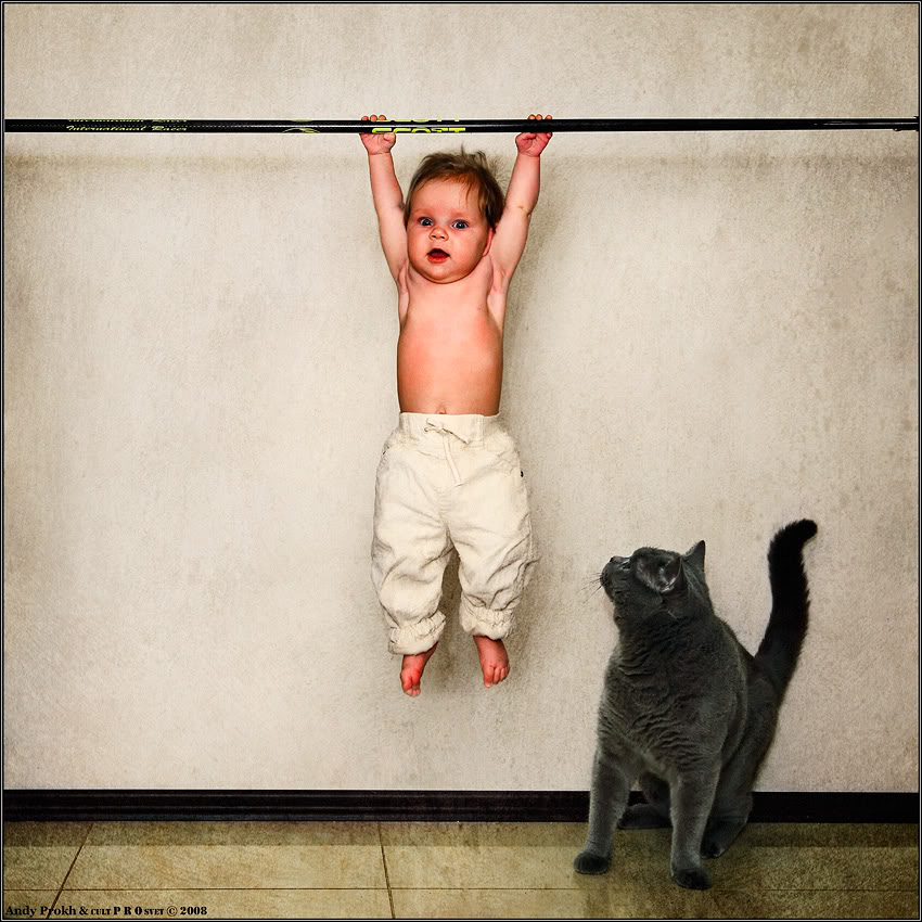Sometimes you feel like the cat, sometimes the kid.