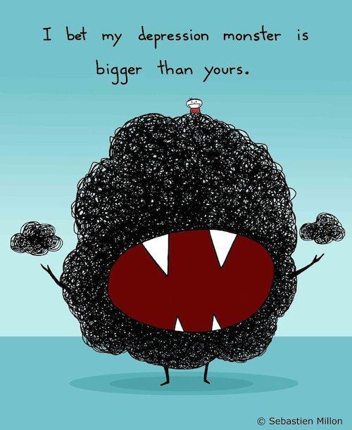 illustration-depression-monster