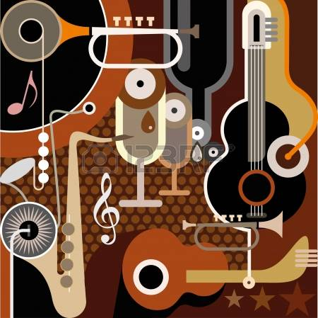 abstract-collage-with-musical-instruments