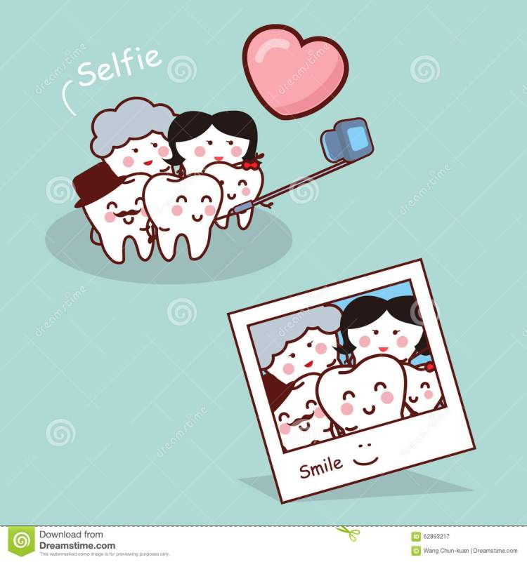 happy-cartoon-tooth-family-selfie-take-great-health-dental-care-concept-62893217
