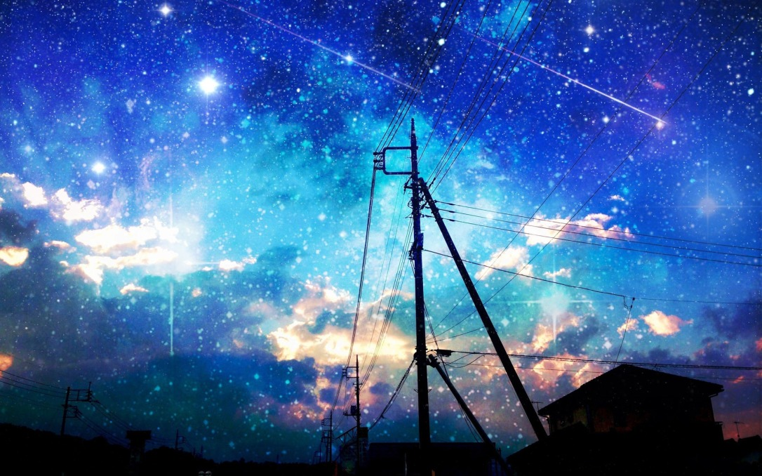 starry-sky-over-the-city-wallpaper-1