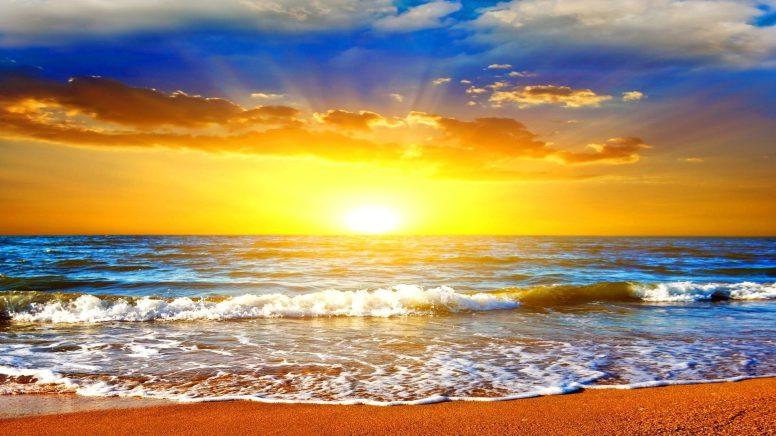 sunshine on the horizon